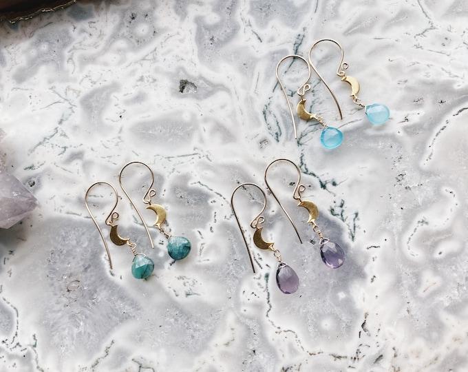 Crescent Moon Earrings - 14k Gold FIlled