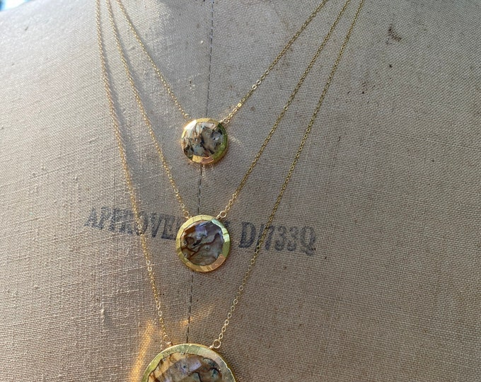 Picture Jasper Necklace // Full Moon Necklace // 14k Gold Filled Necklace // Jasper Necklace // Gemstone Jewelry // Rare Gemstone