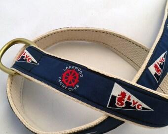 Lakewood Yacht Club D Ring Buckle Belt