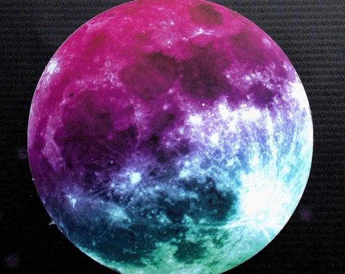 "Tie Dye Moon sticker, 4"" high gloss vinyl car decal"
