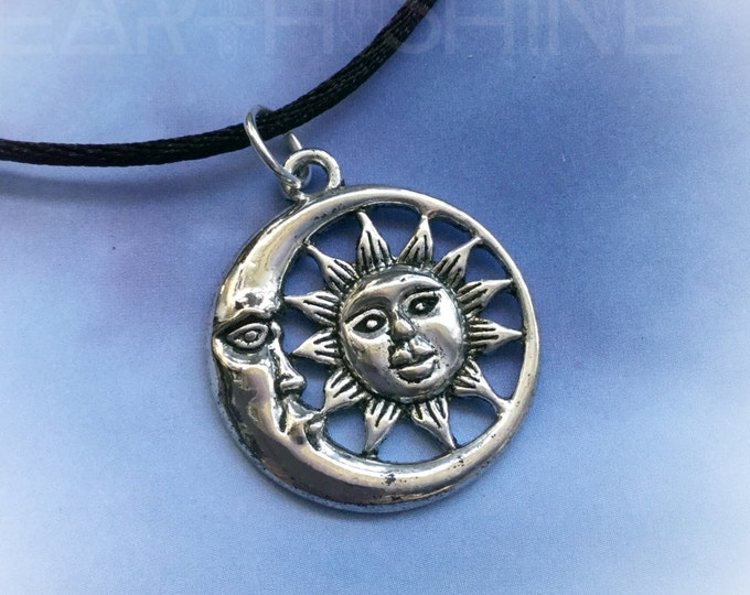 SALE Sun and Moon choker necklace