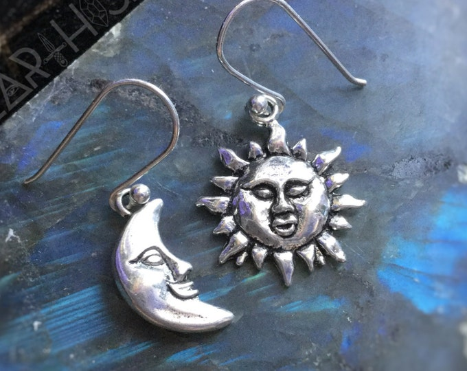 Sun and Moon earrings (sold per pair, leave qty as 1)
