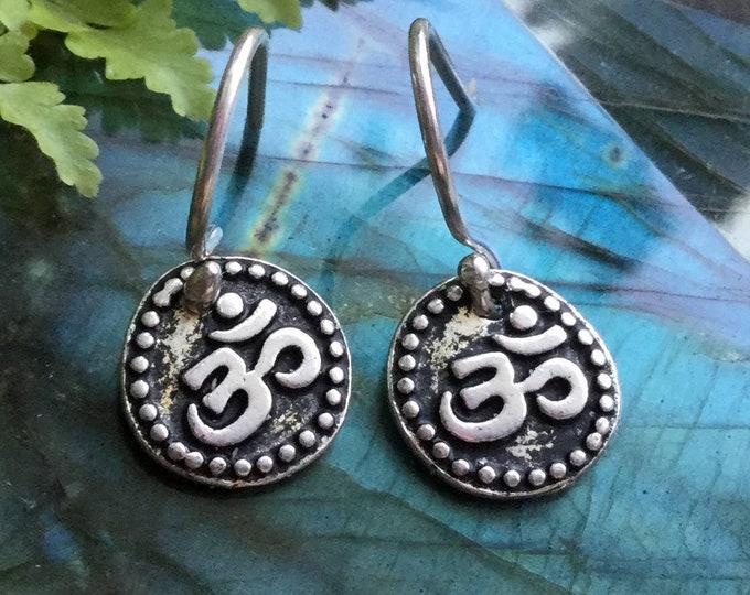 Om earrings, Aum, dangle charm earrings (sold per pair, leave qty as 1)