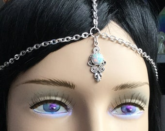 Opal Mandala Head Chain, circlet, meditation, third eye chakra