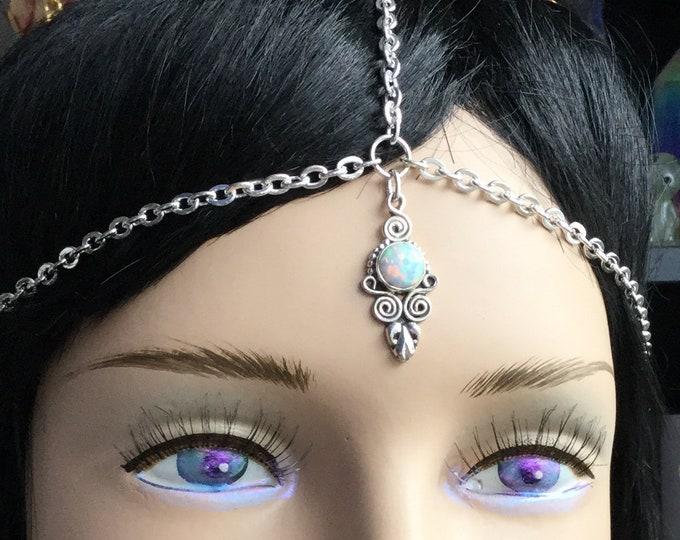 Opal Mandala Head Chain, circlet, meditation, third eye chakra