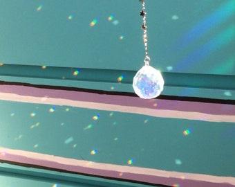 Disco Ball Suncatcher Window hanging prism, Rainbow maker, Rearview mirror