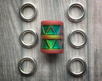 Dread beads Mood Color changing loc bead set dreadlocks, 8mm and 6mm hole beads