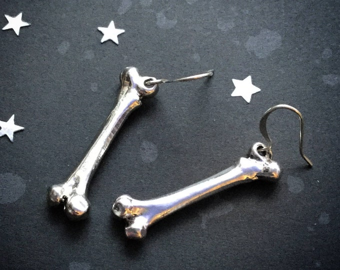 Bone earrings in silver or gold, sold per pair (leave qty as 1 to receive one pair)
