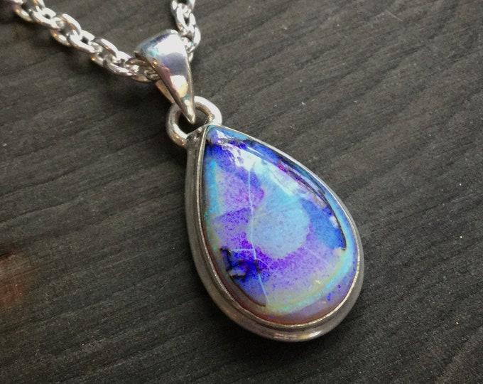 Monarch Opal Teardrop Necklace
