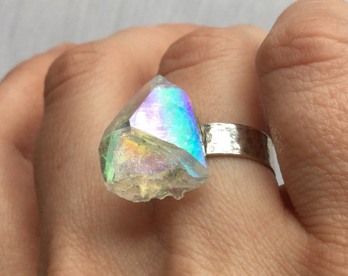 Angel Aura Arkansas Quartz Sterling silver ring