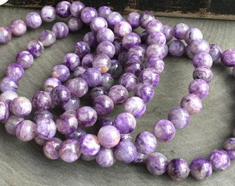 Charoite stretch beaded bracelet