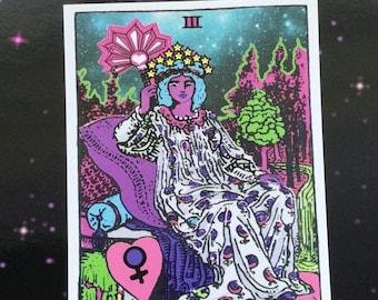 The Empress Tarot art print postcard 4x6