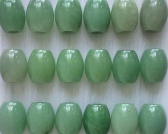 Green Aventurine Loc bead, 1 pc, 5-6mm hole, loc bead,  loc jewelry, hair beads