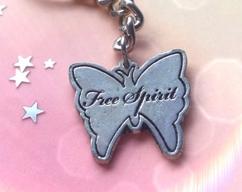 SALE Free Spirit Butterfly keychain