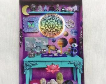 """Miniature Tarot Altar  5x7"""" ART PRINT"""
