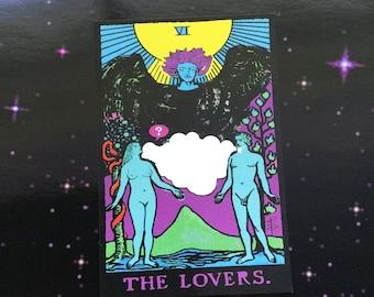 Tarot Card The Lovers print postcard 4x6