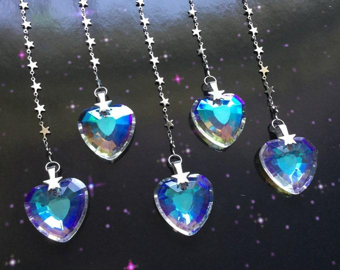 Heart Suncatcher, Prism sun catcher, rainbow maker, Window hanging, Rearview mirror