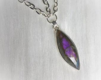 Purple Labradorite Head Chain, Circlet, Violet Flame