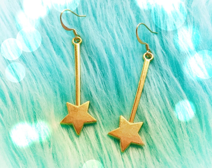 Star Wand earrings in silver or gold, sold per pair (leave qty as 1)