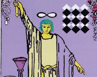SALE Tarot Card The Magician postcard print 4x6