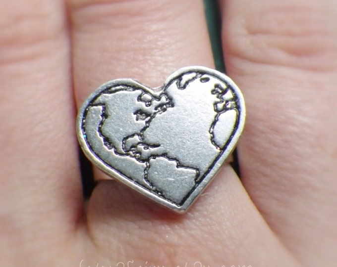 Earth Heart adjustable ring, Patcha Mama, Gaia