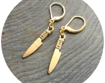 Knife earrings, sold per pair (leave QTY as 1 to receive one pair)