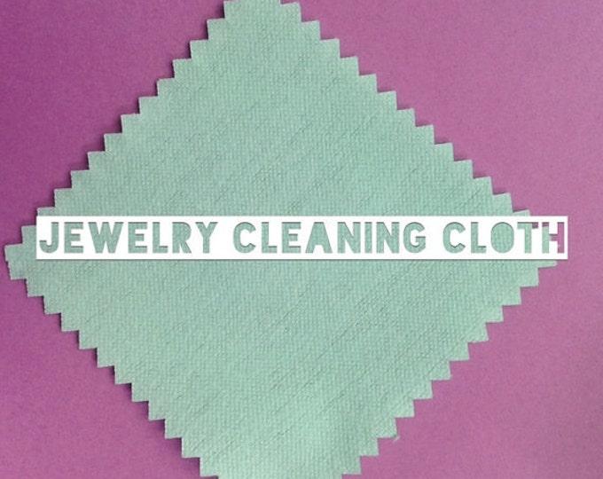"Jewelry polishing cloth 3x3"" keep your pieces tarnish free!"
