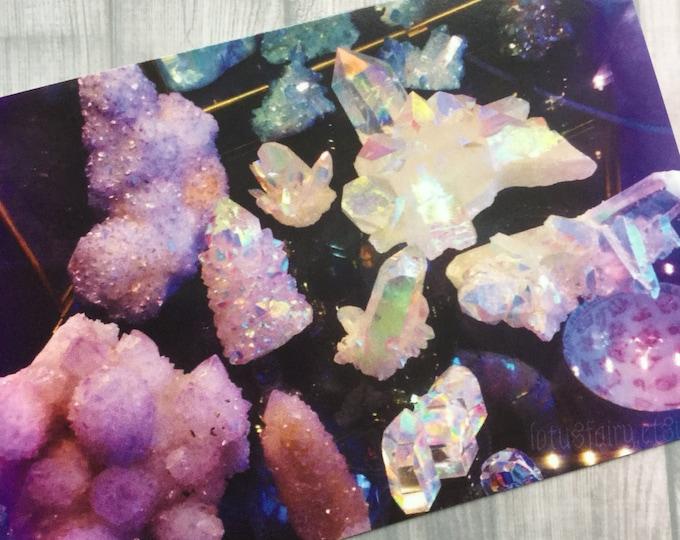 Crystal Art print 4x6, Angel Aura, Aqua Aura, Tanzine Aura, Quartz