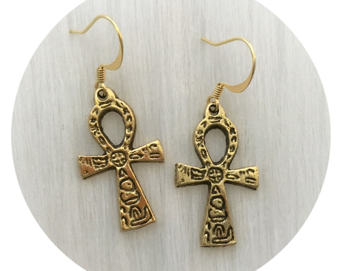 Egyptian Ankh Earrings, sold per pair (leave QTY as 1)
