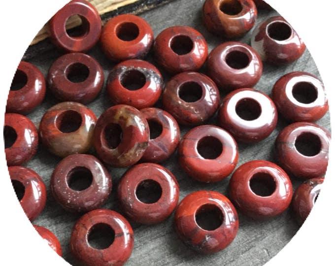 LAST SET- Extra Small Red Jasper dread beads, set of 8 PCS, 4mm hole, dreadbeads, loc jewelry
