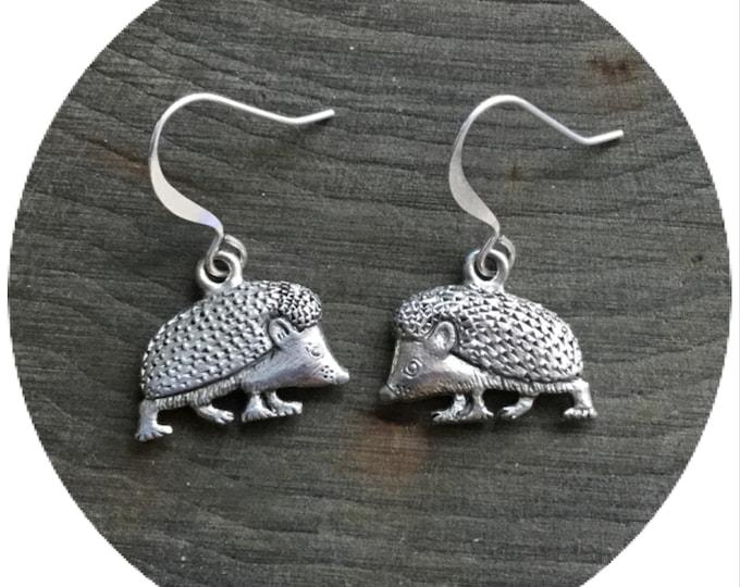 Hedgehog earrings,  sold per pair (leave QTY as 1)