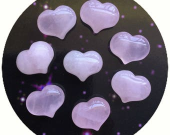 Rose Quartz Heart Pocket stone, gemstone, 1 pc, 25mm Valentines day gift, Love