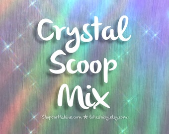 Scoop of Crystals, Charms, Lucky pick mix, Dragon hoard, Crows mix of shiny things, Please read DESCRIPTION