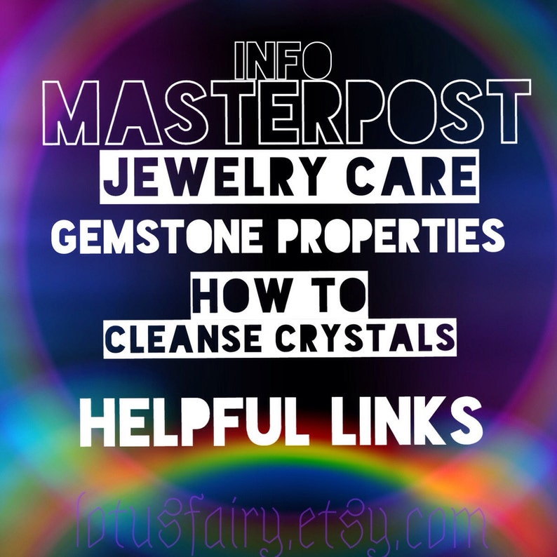 FAQ Info Masterpost Crystals Gemstones Care guide NOT an image 0