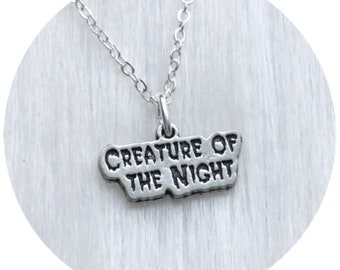 Creature of the Night necklace, on black cord or chain