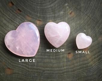 Rose Quartz Heart Pocket stone, gemstone, 1 pc, Valentines day gift, Love