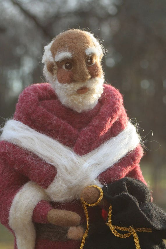 Father Christmas Tree Topper Santa Tree Topper Needle Felted Etsy