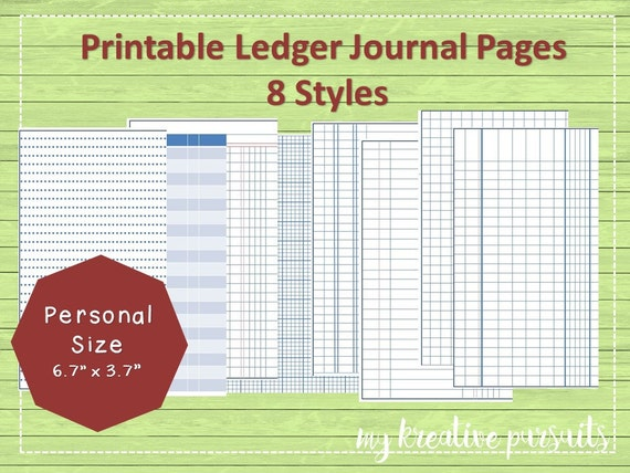Items similar to Printable Bullet Journal Papers, Ledger Papers ...
