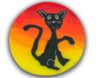 Polymer Clay cane Opal the Cat- Silly Milly
