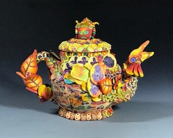 Yellow Chicken Teapot
