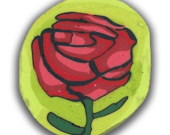Vintage Rose Polymer Clay Cane Silly Milly