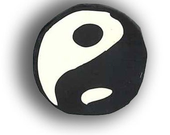 Polymer Clay Cane, Yin Yang Silly Milly