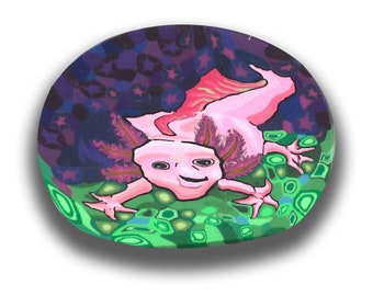 Polymer Clay Cane Axolotl- Silly Milly