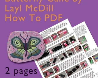 Butterfly Polymer Clay Cane How To PDF