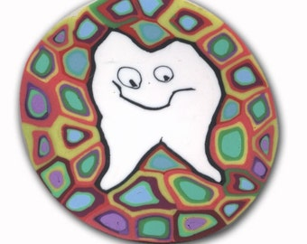 Tooth - Silly Milly Small Polymer Clay Cane
