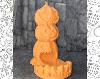 Halloween Pumpkin Dice Tower | Dungeons & Dragons, Pathfinder | 3D Print