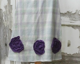 Little Girls Dress Apron Cross Back Pinafore Top Upcycled Clothing Vintage Tablecloth Top