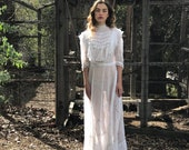 Victorian Cotton and Lace Perfect Dress