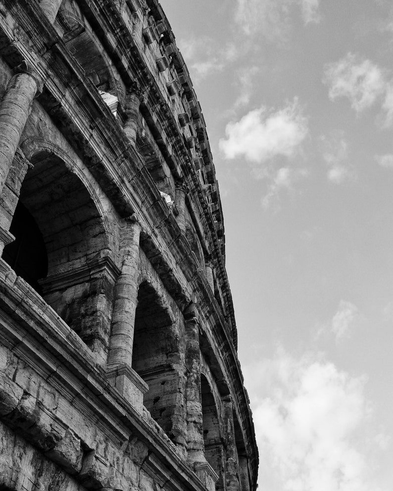 Fine art photography black and white colosseum coliseum in etsy