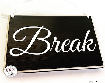 image relating to Printable Out to Lunch Sign named Out toward lunch indicator Etsy